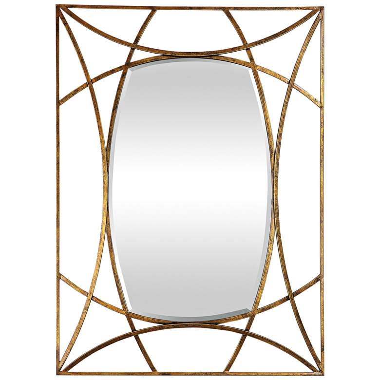 "Abreona Gold Leaf 31 1/4"" x 43 1/4"" Rectangular Wall Mirror"