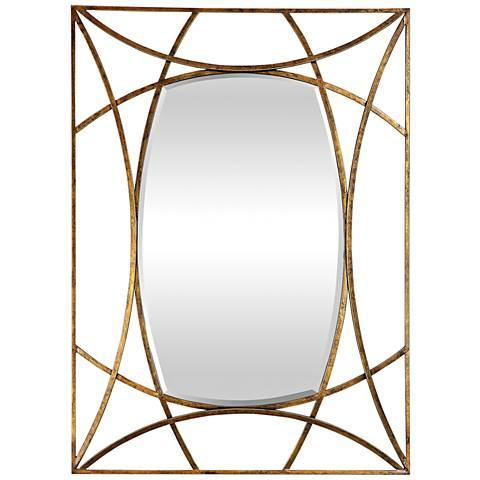 "Uttermost Abreona Gold Leaf 31 1/4"" x 43 1/4"" Wall Mirror"