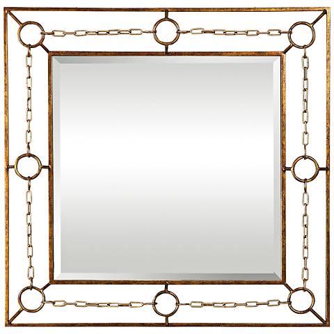 "Uttermost Rafello Mottled Bronze 37 3/4"" Square Wall Mirror"