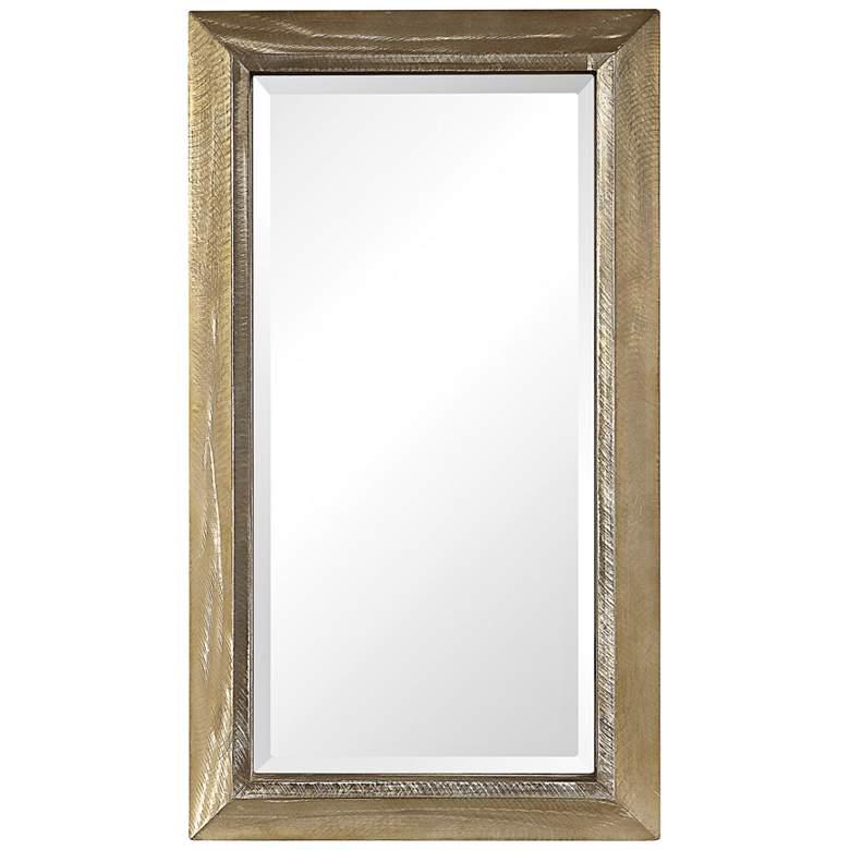 """Uttermost Madock Brass Stain 20 3/4"""" x 36 3/4"""" Mirror"""
