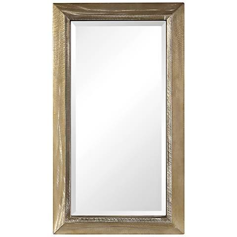 "Uttermost Madock Brass Stain 20 3/4"" x 36 3/4"" Wall Mirror"