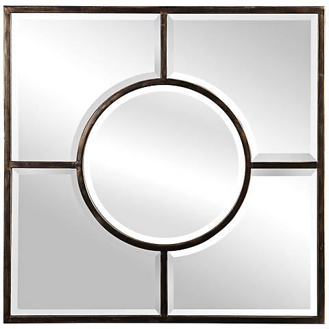 """Uttermost Baeden Dark Bronze 36"""" Square Wall Mirror"""