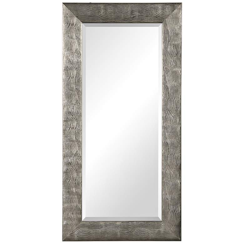"Uttermost Maeona Metallic Silver 30"" x 60"" Wall Mirror"