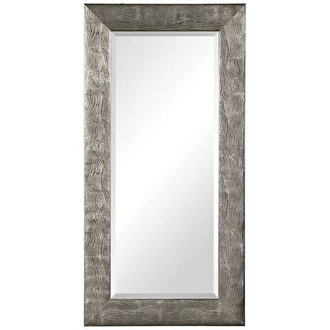 "Uttermost Maeona Metallic Silver 30"" x 60"" Wall Mirror"