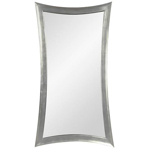 "Hour-Glass Silver Leaf 45"" x 81"" Oversized Floor Mirror"