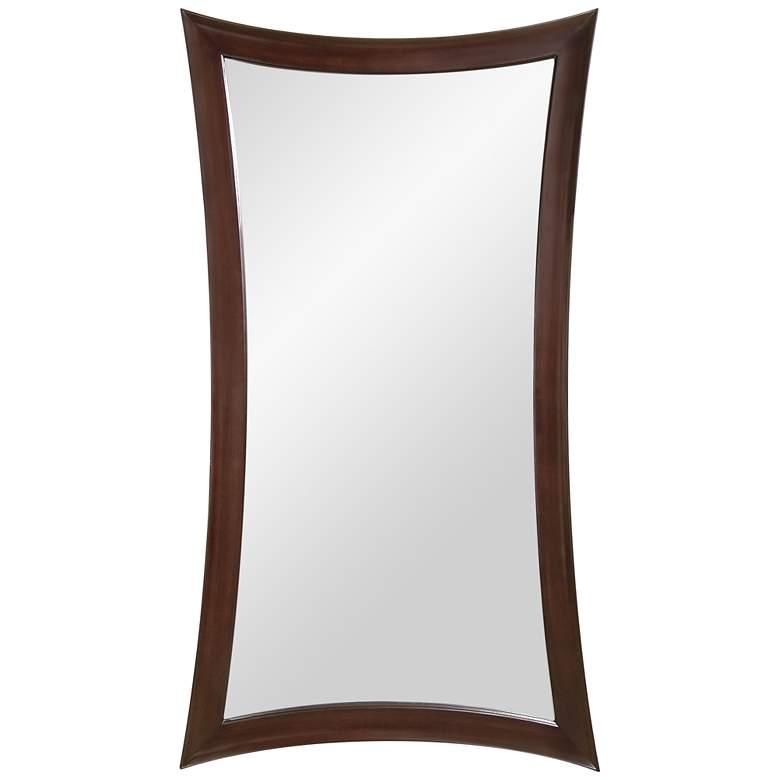 """Hour-Glass Merlot 44"""" x 82"""" Oversized Floor Mirror"""
