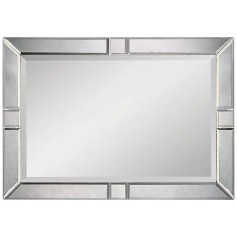 "Barbarella Beveled Mirror 42"" x 30"" Oversized Wall Mirror"