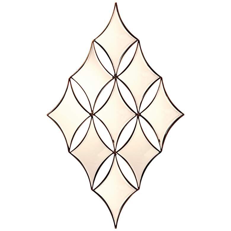 "Channing Bronze 29"" x 48"" Diamond Wall Mirror"