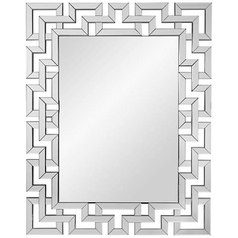 "Winslow Clear Mirror 39"" x 48"" Oversized Wall Mirror"