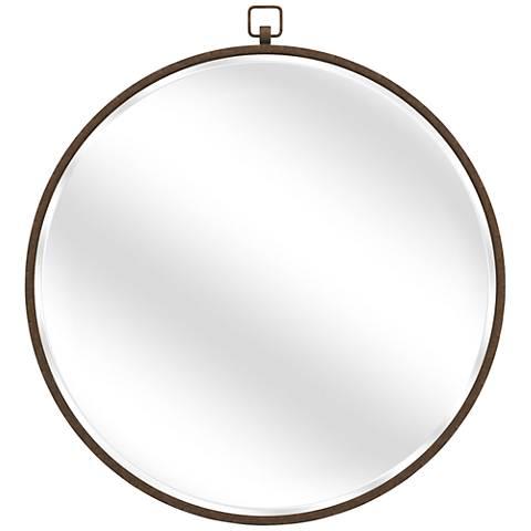 """Quinn Antique Bronze 36"""" Round Wall Mirror"""