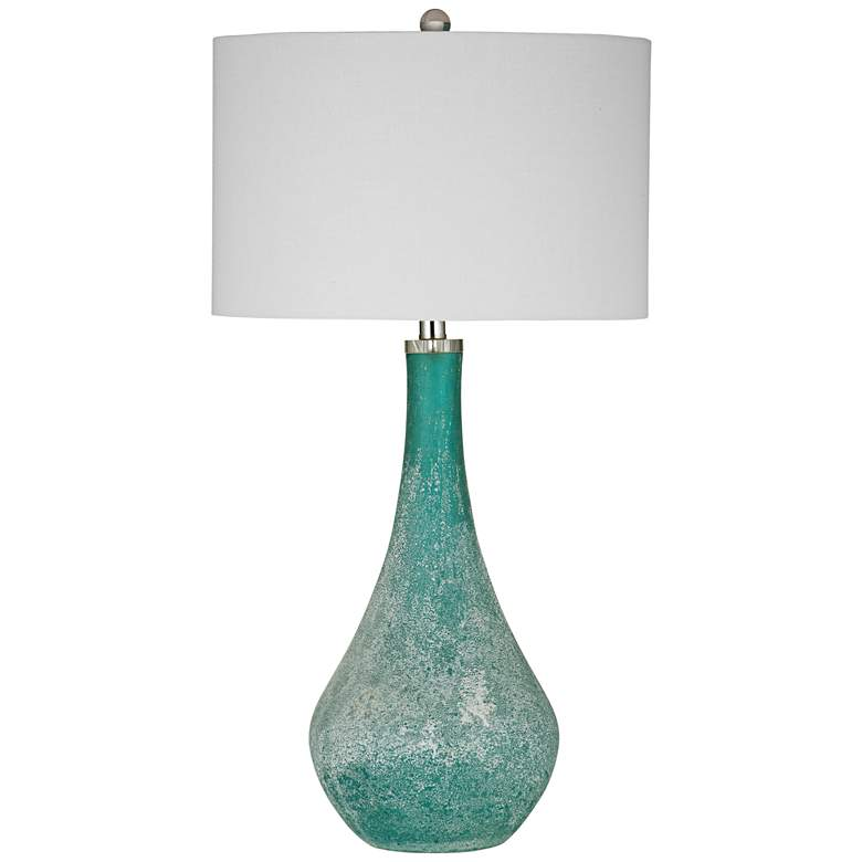 Eton Frosted Blue-Green Glass Table Lamp