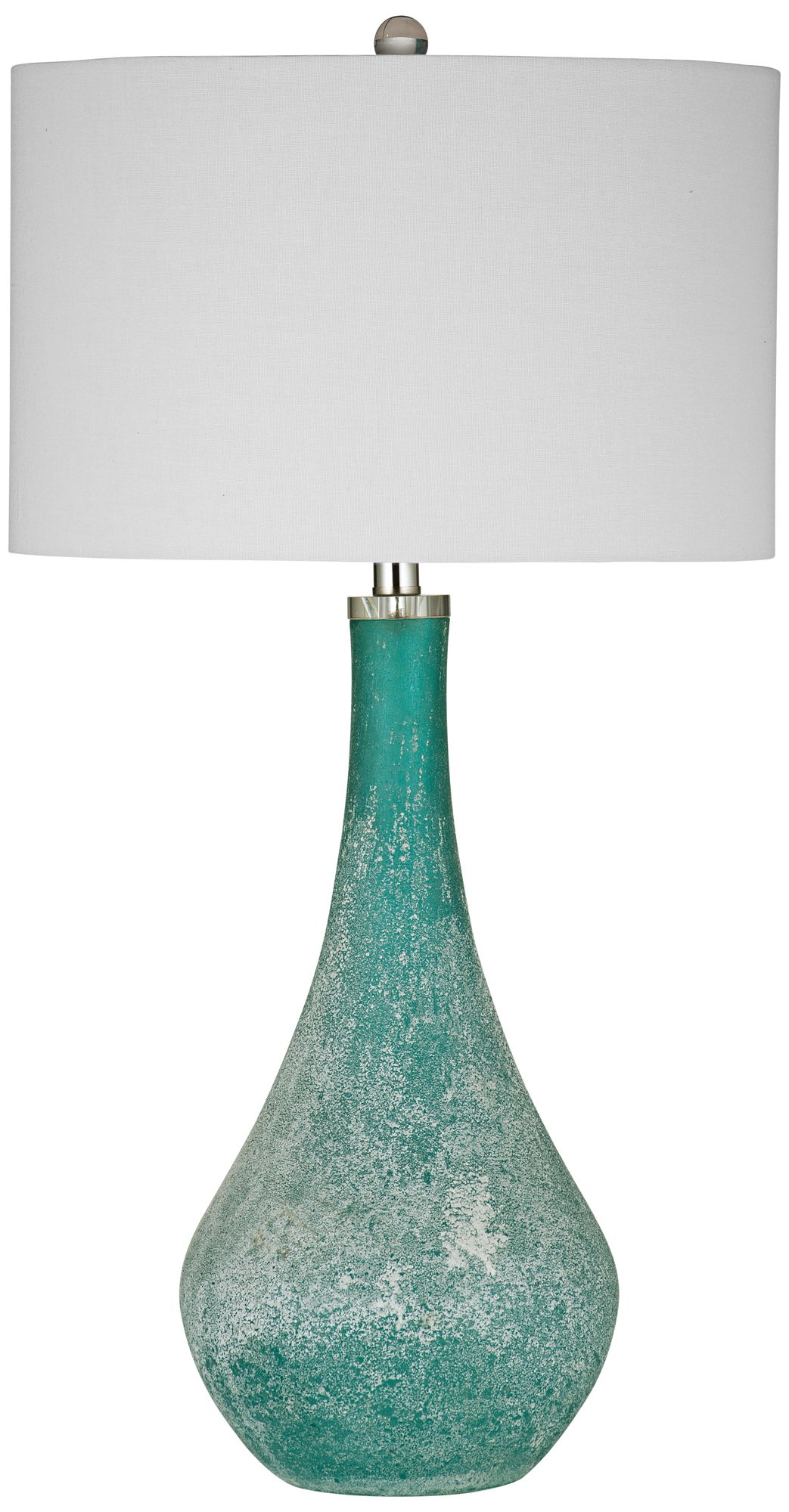 Eton Frosted Blue Green Glass Table Lamp