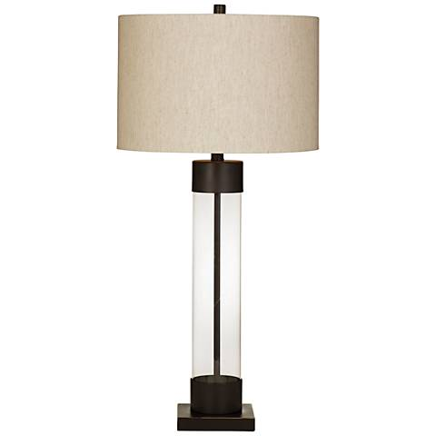 Brannan Bronze and Glass Table Lamp