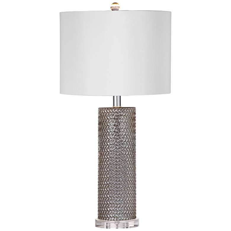 Nina Mercury Glass Column Table Lamp