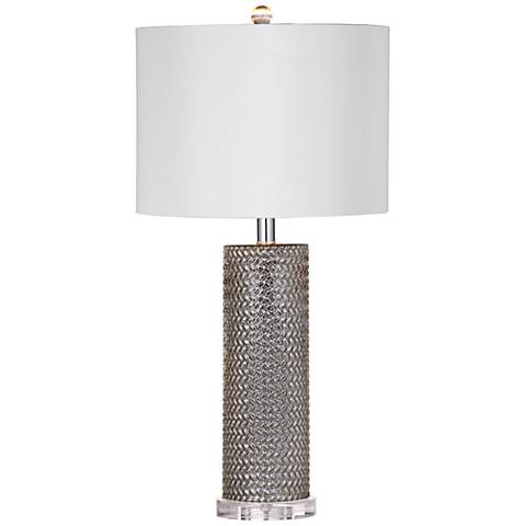 Nina Mercury Glass Column Table Lamp
