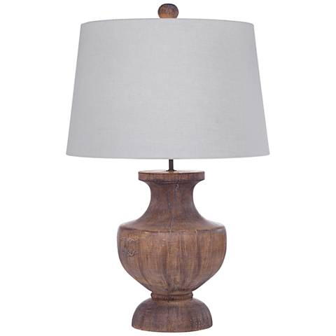 Stella Distressed Brown Table Lamp