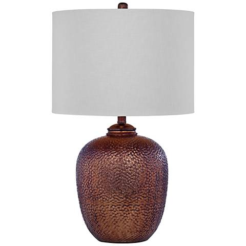 Trevor Antique Copper Glass Table Lamp