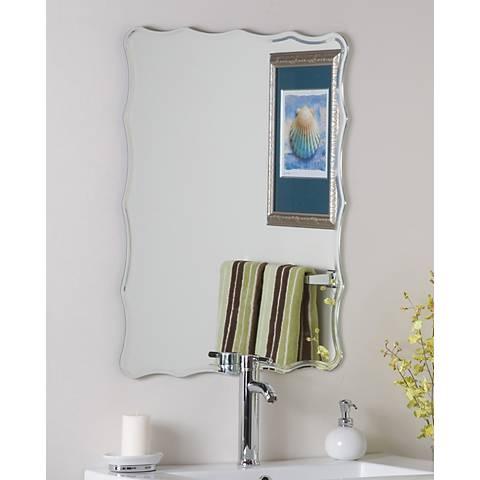 "Frameless Ridge 23 1/2"" x 31 1/2"" Novelty Wall Mirror"