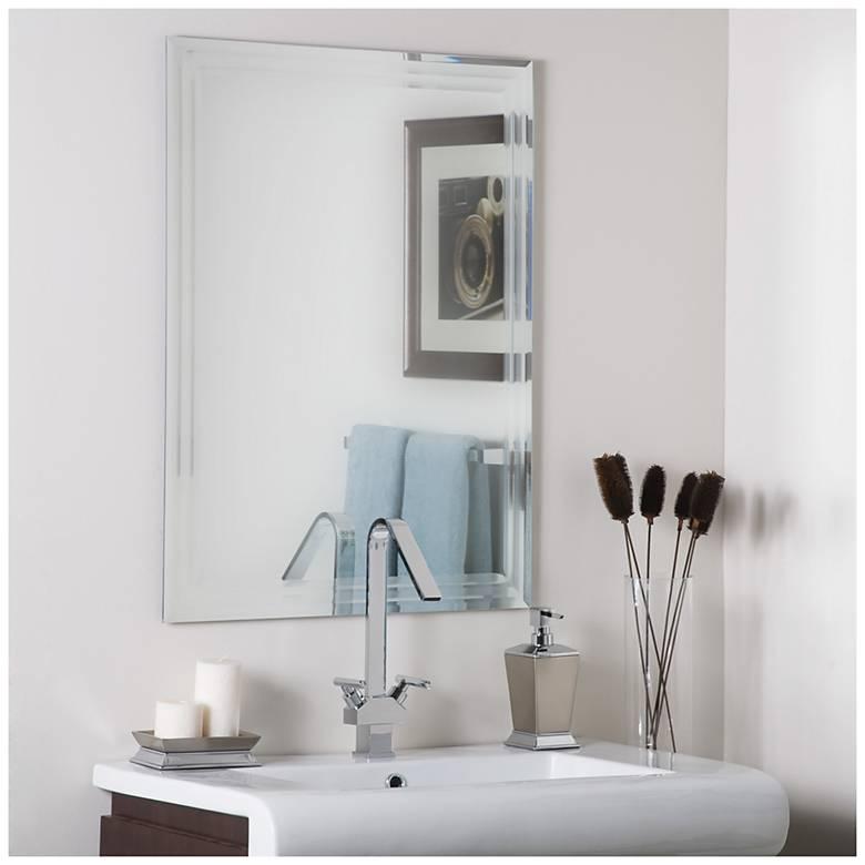 "Frameless Tri-Bevel 23 1/2"" x 31 1/2"" Wall Mirror"