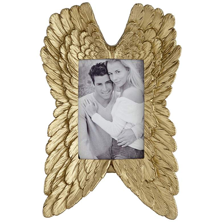 Angel Wings Gold 4x6 Photo Frame