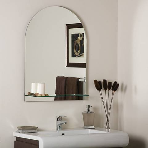 "Roland 23 1/2"" x 31 1/2"" Arched Wall Mirror with Shelf"