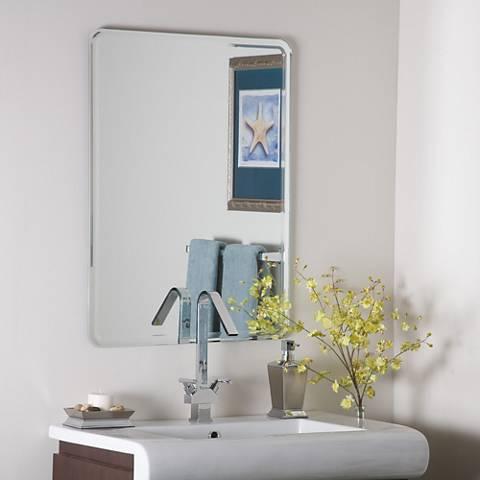 "Samson Large 23 1/2"" x 31 1/2"" Frameless Wall Mirror"