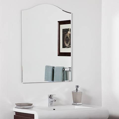 """Amelia Modern 23 1/2"""" x 31 1/2"""" Arched Wall Mirror"""