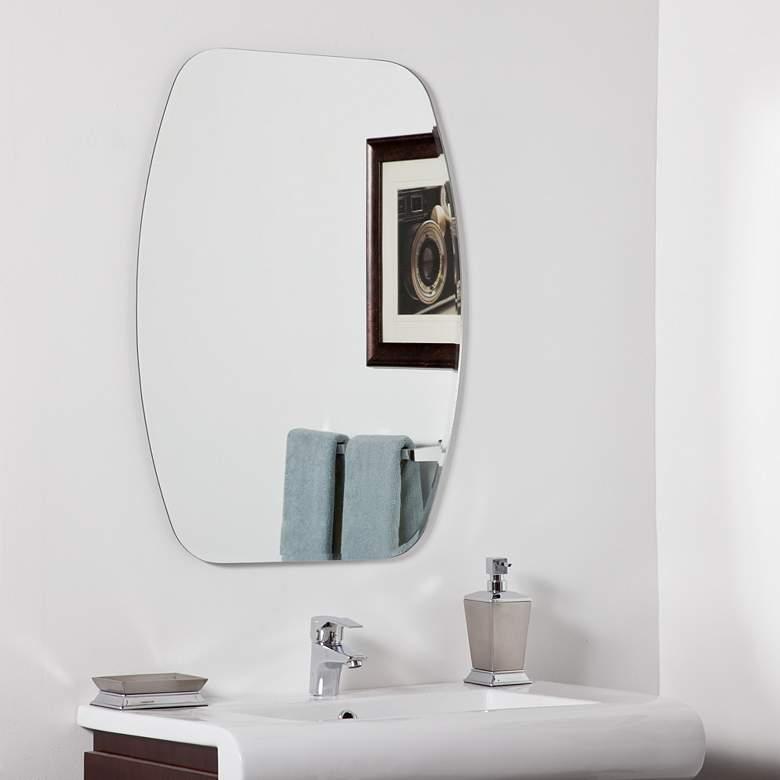 "Sydney Frameless 23 1/2"" x 31 1/2"" Oval Vanity Wall Mirror"