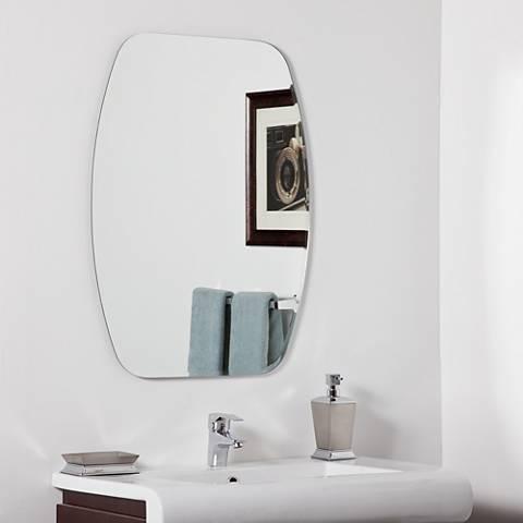 """Sydney Modern 23 1/2"""" x 31 1/2"""" Oval Wall Mirror"""
