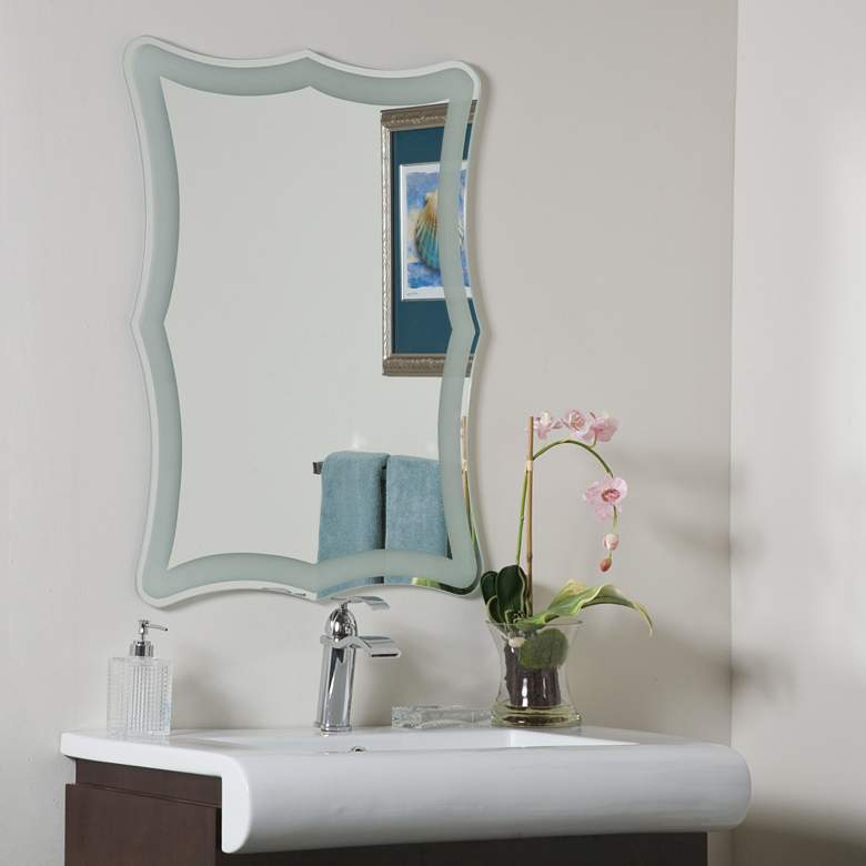 """Coquette 23 1/2"""" x 31 1/2"""" Novelty Wall Mirror"""