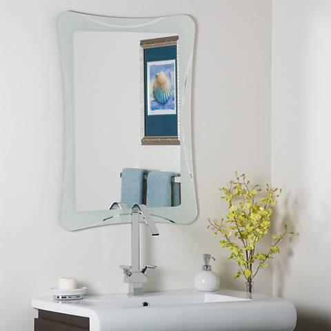 "Frameless Shapes 23 1/2"" x 31 1/2"" Novelty Wall Mirror"