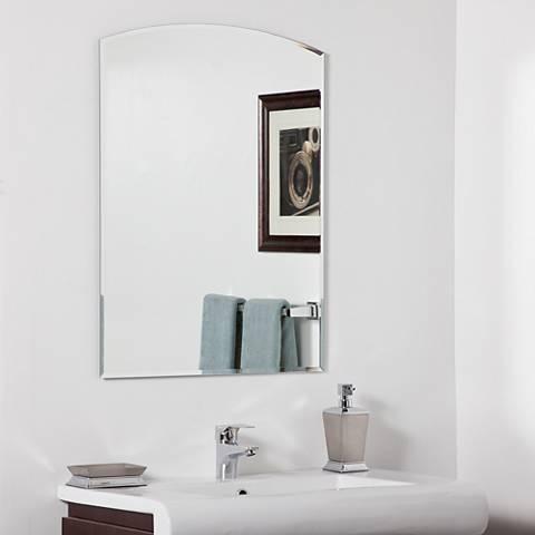"Katherine Modern 23 1/2"" x 31 1/2"" Arch Wall Mirror"
