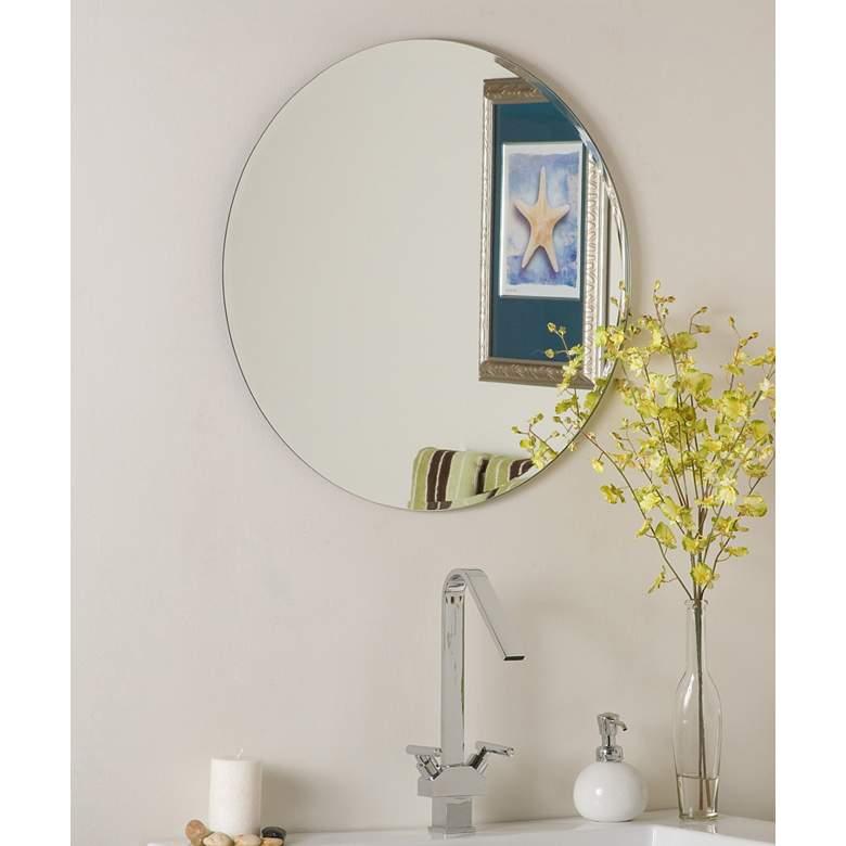 Ophelia 23 1 2 Round Frameless Beveled Wall Mirror