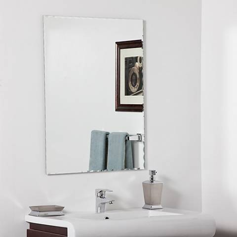 "Madeline Modern 23 1/2"" x 31 1/2"" Bathroom Wall Mirror"