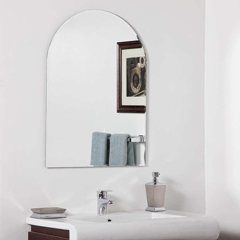 "Rita Modern 23 1/2"" x 31 1/2"" Arched Wall Mirror"