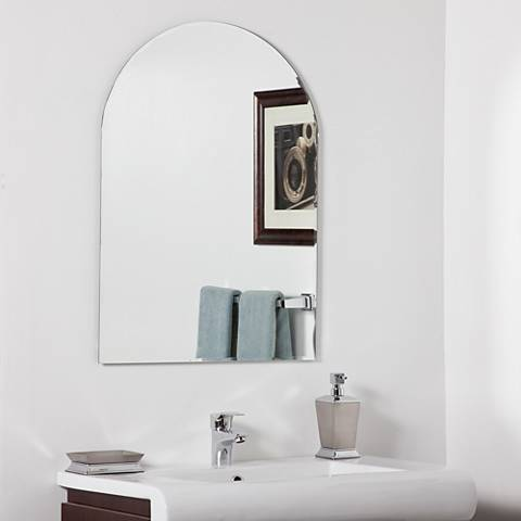 "Rita Modern 23 1/2"" x 31 1/2"" Arched Wall Mirror"