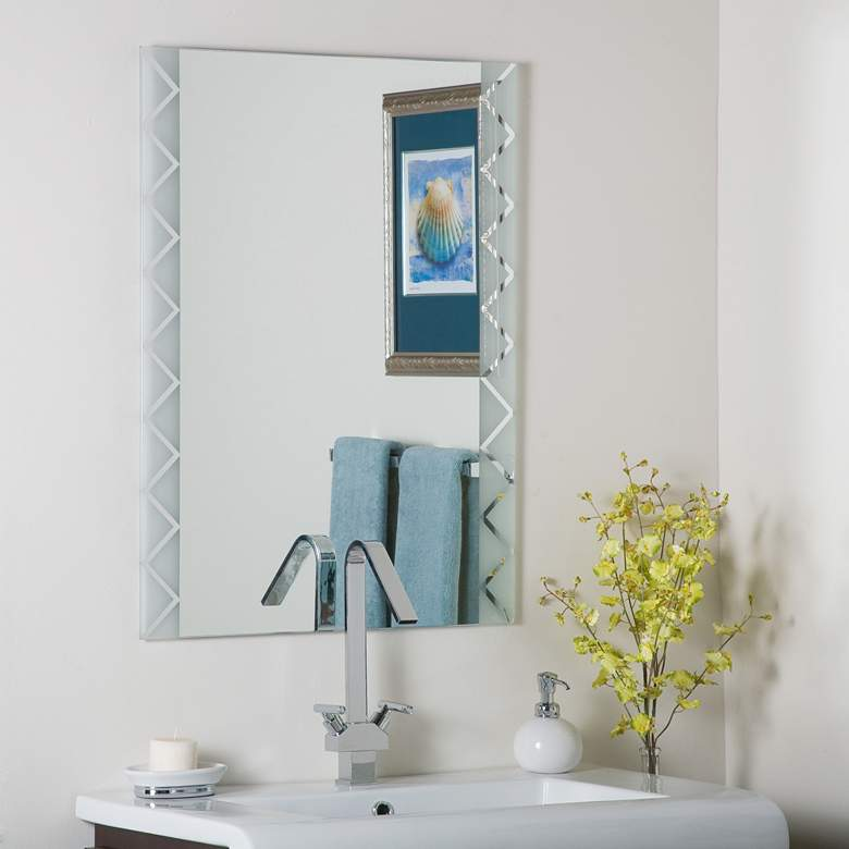 """Frameless Terra 23 1/2"""" x 31 1/2"""" Wall Mirror"""