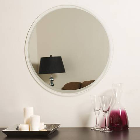 "Frameless Contempo 23 1/2"" Round Wall Mirror"