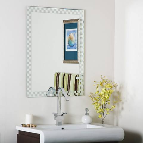 "Frameless Checkmate 23 1/2"" x 31 1/2"" Wall Mirror"