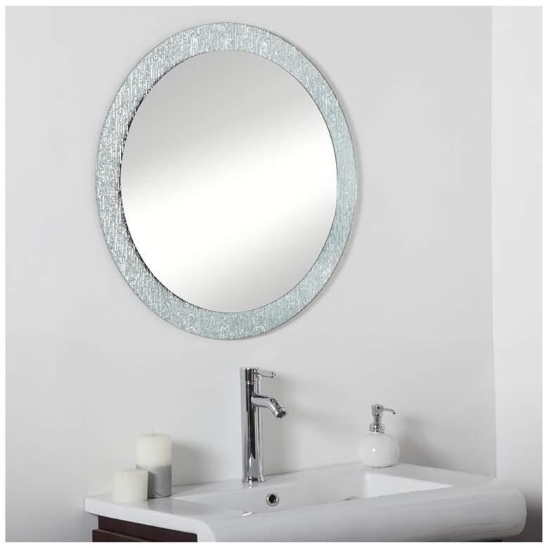 """Molten 27 1/2"""" Round Bathroom Wall Mirror"""
