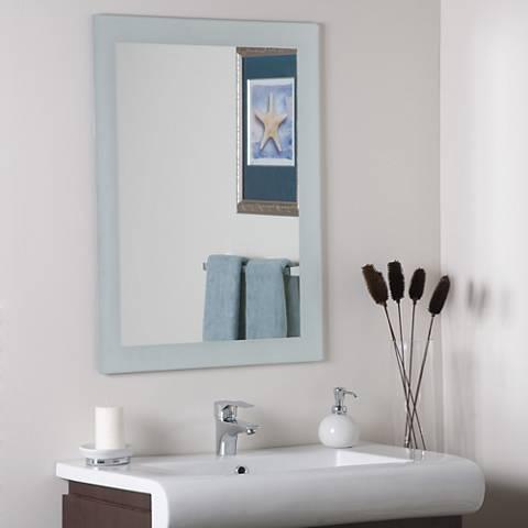 """Sands 23 1/2"""" x 31 1/2"""" Frameless Wall Mirror"""