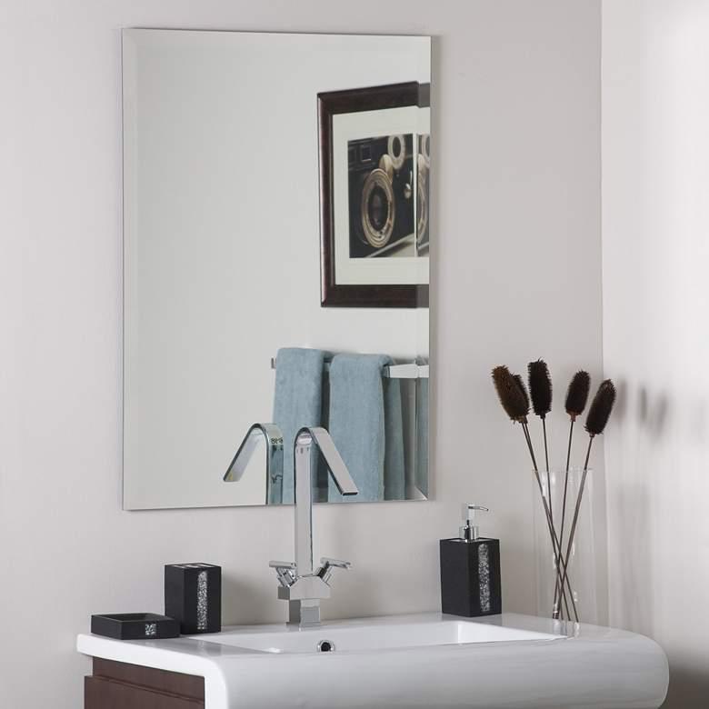"Frameless Square 23 1/2"" x 31 1/2"" Beveled Wall Mirror"