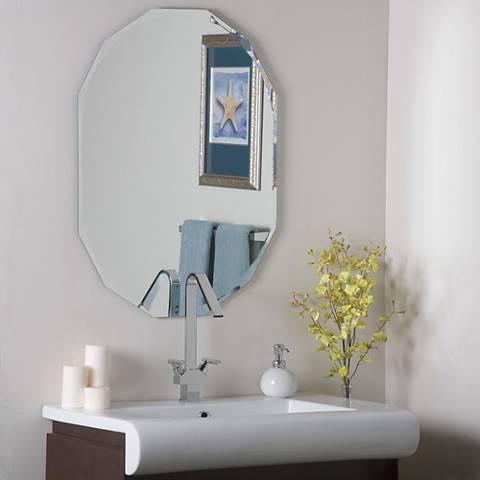"Diamond 23 1/2"" x 31 1/2"" Octagon Frameless Wall Mirror"