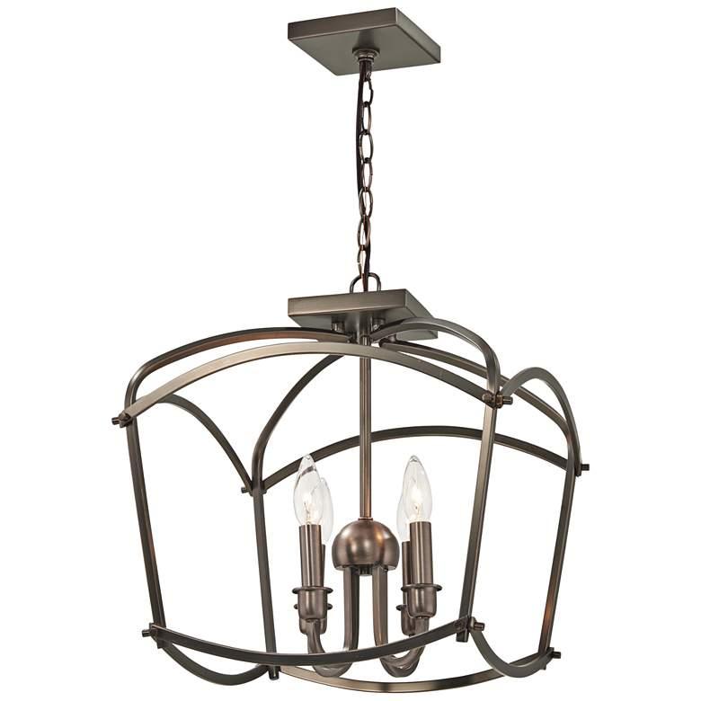 "Jupiter's Canopy 16""W Harvard Court Bronze 4-Light Pendant"