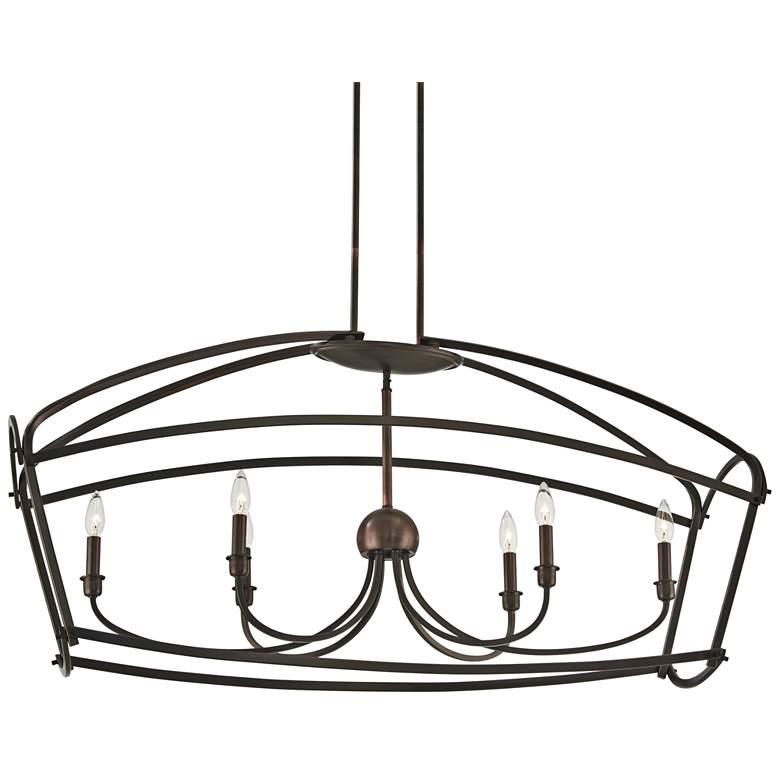 "Jupiter's Canopy 48""W Bronze Kitchen Island Light Pendant"