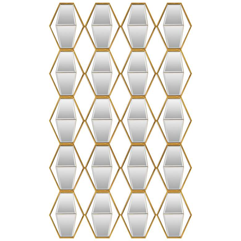 """Uttermost Jillian 52"""" High Gold Metal Mirrored Wall Art"""