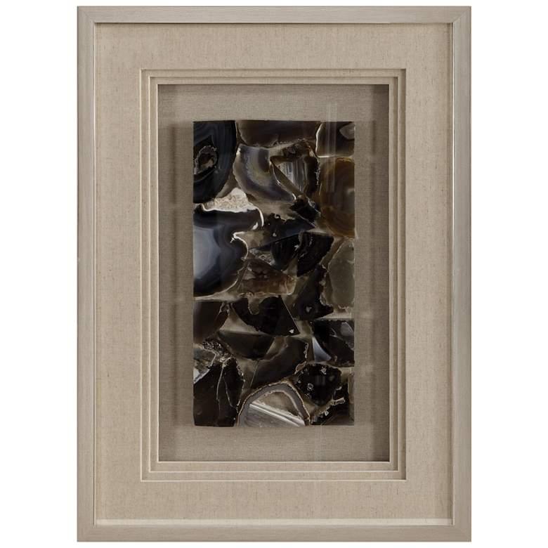 "Uttermost Seana Agate Stones 27 1/2""H Shadow Box Wall Art"