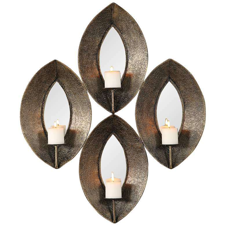 Uttermost Nina Textured Antique Bronze Candle Wall Sconce