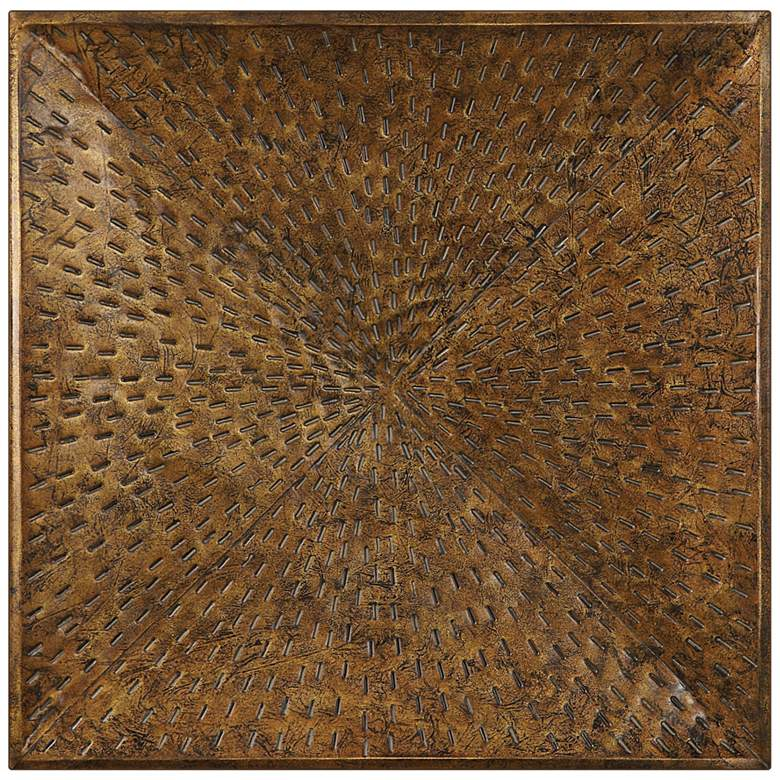 "Uttermost Blaise 31 1/2"" Square Bronze Metal Wall Art"