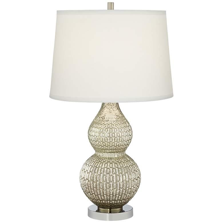 Celine Silver Mercury Glass Table Lamp